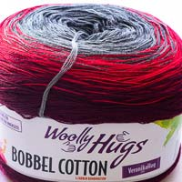 Woolly Hugs Bobbel Cotton 04 Zauberer (rot-grau)