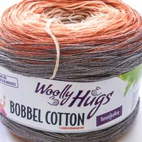 Woolly Hugs Bobbel Cotton 05 Unter der Eiche (grau-orange)