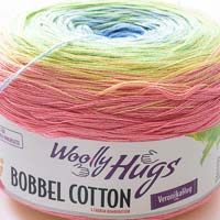 Woolly Hugs Bobbel Cotton 17 Osterkorb (rosa-gelb-grün)