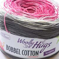 Woolly Hugs Bobbel Cotton 20 Märchenschloss (grau-purpur)