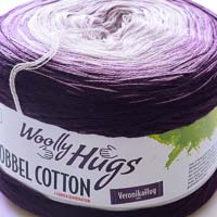 Woolly Hugs Bobbel Cotton 22 Purpurspindel (lila-violett)